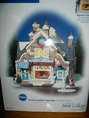 Department 56 Snow Village Pillsbury Doughboy Bake Shop Nib