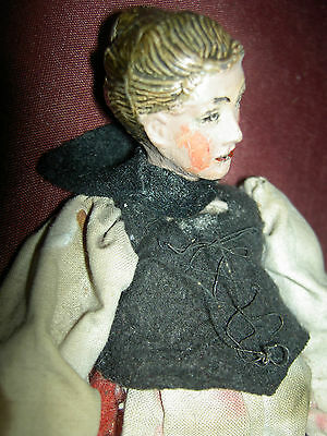 Pretty antique Bucherer, multi-jointed Swiss SABA, female doll figure all orig.