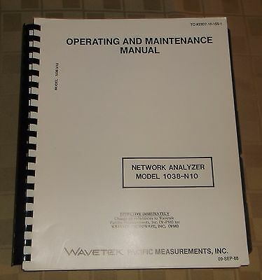 Wavetech Operating Maintenance Manual Network Analyzer 1038 N10