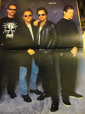 Metallica, Two Page Vintage Centerfold Poster