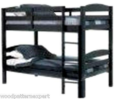 BUNK BED Paper Plans EASY DIY PATTERNS Build King Queen Full Twin Adult Sizes