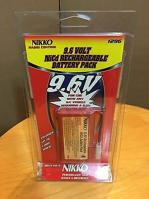 NIKKO 9.6 VOLT NiCd RECHARGEABLE BATTERY PACK 1296 NEW 9.6V RC