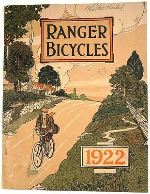 Mead Cycle Co. 1922 Ranger Bicycles Illus. Catalog with Prices & Misc. Ephemera