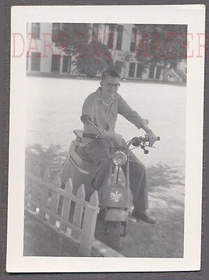 Vintage Photo Cute Boy on Motor Scooter 743157