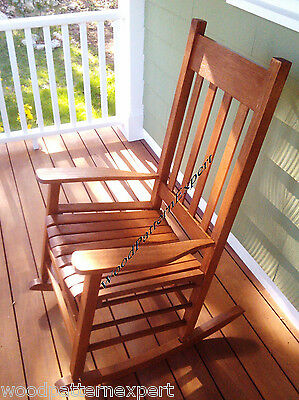 ROCKING CHAIR Paper Plans EASY DIY PATTERNS Build For Front Porch Like A Expert