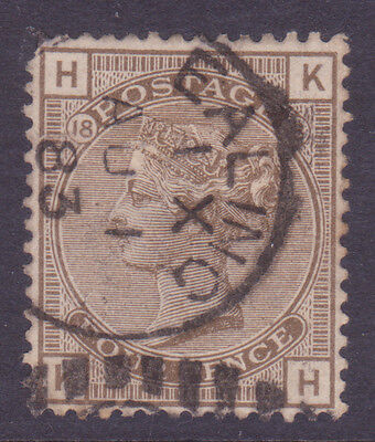 SG160  4d Grey Brown  KH  Plate 18  fine used   Cat  £65