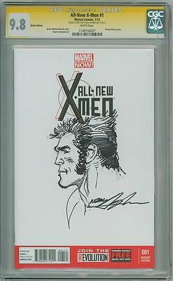 All New X-Men #1 Cgc 9.8 Signature Series Signed Neal Adams Logan Sketch Movie