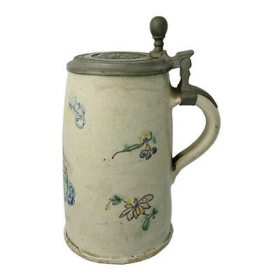 Eighteenth Century German Faience Beer Stein St. Walburga