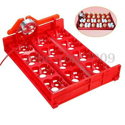 12 Chicken Eggs Turner For Automatic Duck Quail Bird Poultry Egg Incubator Tray