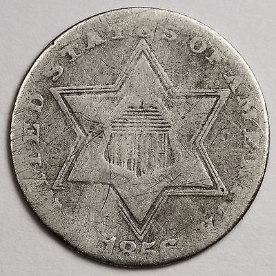 1856 3 Cent Silver.  Circulated.  105805