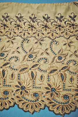 Vintage Cotton Lace Machine Floral Embroidered Eyelet Lace Trim For Crafters