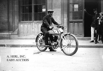 Alcyon racer & Stoffel - Strasbourg 1905 photo photograph motorcycle