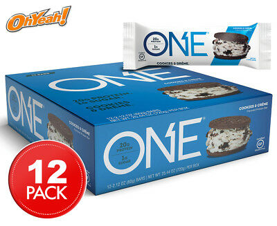 12 x Oh Yeah! ONE Protein Bars Cookies & Créme 60g