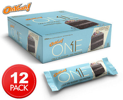 12 x Oh Yeah! ONE Protein Bars Chocolate Birthday Cake 60g