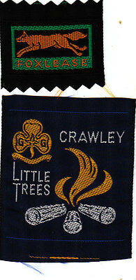 Girl Guide Badges FOXLEASE + CRAWLEY LITTLE TREES