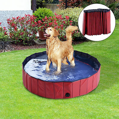 PawHut Foldable Dog Bath Pool Puppy Bathing Tub Dogs Casts Washer Pet Supplies