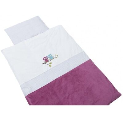 Be Be's Collection 272-72 Bed linen Motiv Owl fuchsia 80x80cm