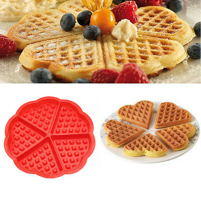 Silicone Waffles Mould Muffin Maker Pans Baking Cake Mold Tray Kitchen Tools