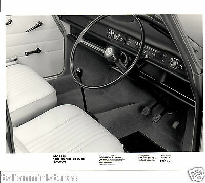 Morris 1300 Super Deluxe 1275 Engine Original Press Photograph Interior