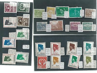 Indonesia Mint & Mm Stamps