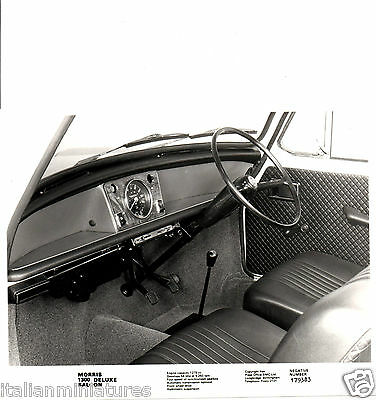 Morris 1300 Deluxe 1275 Engine Original Press Photograph Interior