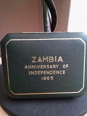 Zambia 1965, Anniversary of Independence; commemorative coin