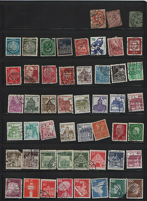 108 used Germany  east west postage stamps