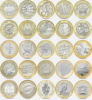 Brilliant Uncirculated £2 Two pound coins 1986 - 2016  Choose Dates BU