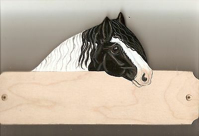 gypsy vanner cob stable/barn/stall name plate plaque sign personalised gift