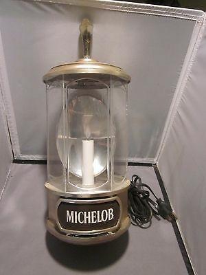 1982 Michelob Light Beer Crystal Lamps / Wall Sconce Light / Sign WORKS