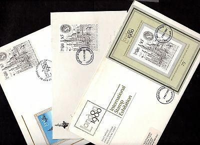 THREE Covers LONDON ~ INTERNATIONAL STAMP EXHIBITION 1980 ~ Croydon BIRMINGHAM
