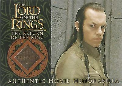 """Lord of the Rings Return of the King: """"Elrond's Robe"""" Memorabilia Costume Card"""