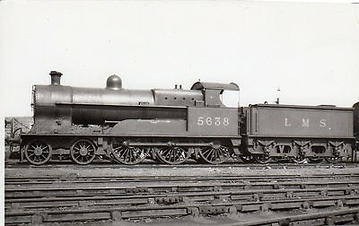 "Photo Ex LNWR 4-6-0 No 5638 ""Charles James Lever""at Crewe Works 16/7/33 R/F"