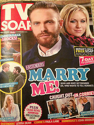 TV SOAP MAGAZINE Nov 2018:BHAVNA LIMBACHIA Faye Brookes RYAN HAWLEY