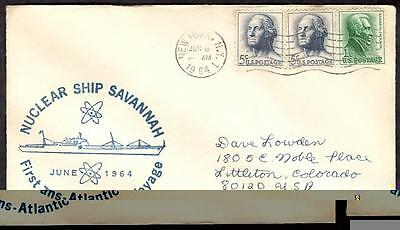 N. S. Savannah June 8 1964 NYC NY, First Trans-Atlantic Voyage, B.S. Bremerhaven
