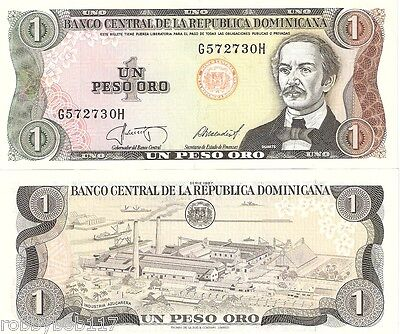 DOMINICAN REPUBLIC 1 Peso Banknote World Paper Money UNC Currency Pick p-126b