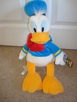 "Large 18"" Genuine  Disney Store Exclusive Donald Duck Soft Toy Plush with Tag"