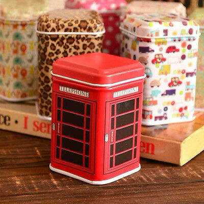 Red Metal Candy Trinket Tin Jewelry Iron Tea Coin Storage Square Box Case Hot +