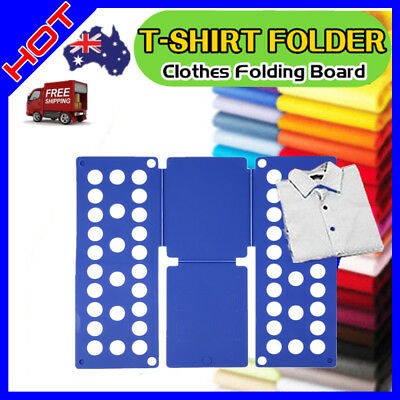 Clothes T-Shirt Folder Magic Folding Board Flip Fold kids Laundry Organizer X#P