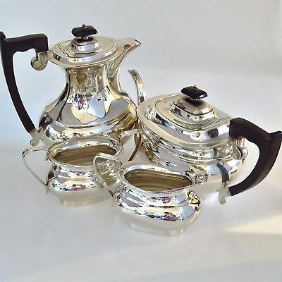 Sterling Silver Four Piece Tea Set - Viners Ltd Sheffield 1960