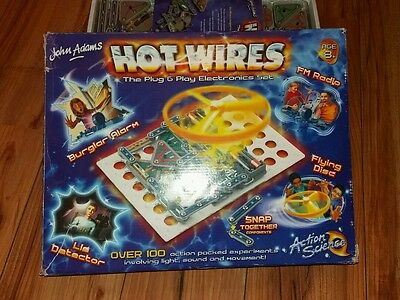 John Adams Hot Wire Plug & Play Electronics Set Snap Together Action Science