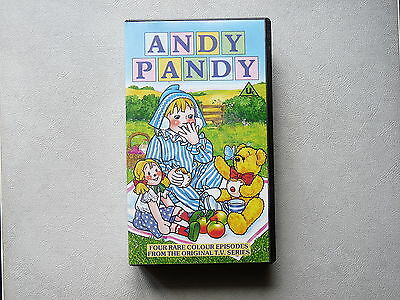 Andy Pandy Bbc Vhs Tape With Four Rare Colour Episodes From Original Tv Series