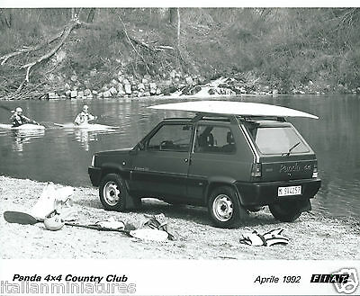 Fiat Panda 4x4 Country Club AWD Original Press Photograph with Canoe 1992