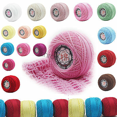 Wholesale! 26 colors Cotton Thread Yarn Knitting Crochet Lace Embroidery Yarn