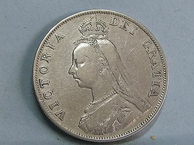 Victorian Jubilee Head  Silver Double Florin Coin  Dated 1888