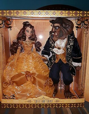 Disney Store Beauty and the Beast Belle Limited Edition 500 Platinum Doll Set