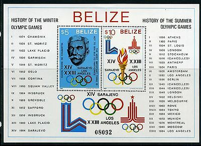 Belize MiNr. Block 36 a postfrisch/ MNH Olympiade 1980 (Oly54