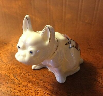 Crested China Model Of  A Boston Terrier .... YORK CREST....