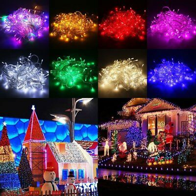 10/15/20m LED Solar Fairy String Light Outdoor Wedding Christmas Party Lamp AU#