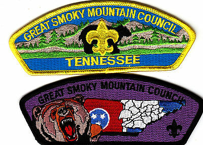 Boy Scouts of America GREAT SMOKY MOUNTAIN Cnl Patch x 2